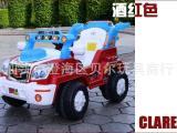 儿童电动车 四轮双驱遥控玩具汽车 宝宝可坐电频玩具童车