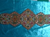 源头工厂生产串珠桌旗 手工珠绣餐垫 绣珠台布 串珠杯垫