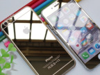 苹果iphone6 plus手机保护膜 ip6 5.5彩色钢化玻璃膜 镜面电镀膜