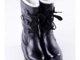 电热鞋 发热鞋 雪地靴 女靴 牛皮女雪地靴 C065-1