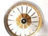 电动车轮毂小龟王电瓶车铝合金碟刹前轮2.15*10前轮圈铝轮配件