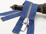 **服装拉链 8金属白银开尾拉链60cm原创实拍品质保障 接受定