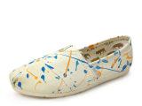 轻便韩版单鞋 厂家直销套脚帆布鞋涂鸦新潮休闲女帆布鞋 夏季热卖