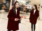 2014新款女装韩国东大门代购修身直筒优质毛呢外套女呢大衣秋冬