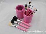 13支装粉红高档动物毛尼龙毛带收纳筒化妆套刷 深圳贝丽法直销