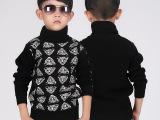 韩版男童加绒厚款高领毛衣 中大童儿童毛衣2013新款首发原图提供