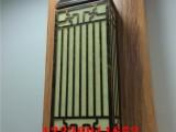 中式小区大门口仿云石壁灯大理石方形柱子造型壁灯户外超亮壁灯