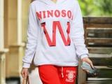 韩国热销新款女式套头连帽卫衣 休闲韩版卫衣套装卫衣外套促销中