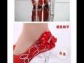 45扬州自取!红色新娘鞋