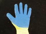 星宇正品织女星线皱 浸胶手套挂胶手套防护