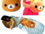 特价黑猫 小熊空调被 卡通创意抱枕靠背垫可爱儿童两用小被子特价
