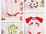 夏装童装 PP奶牛鲸鱼狮子猴子等三角短袖哈衣连体衣连身衣 3-1