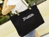 外贸批发2014新款女包夏季韩国链条字母帆布包包单肩包女休闲潮包