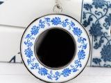 中国风创意工艺品青花瓷钥匙链男士创意小礼品可印logo批发