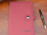 创意高档办公A5平装笔记本厂家订做仿皮PU商务日记事本子定制LO