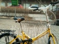 嘎嘎新 减震自行车,有货架,能载人驮货,能折叠
