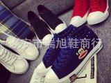15新款帆布鞋女低帮系带经典布鞋 学生平底休闲运动鞋子厂家直销