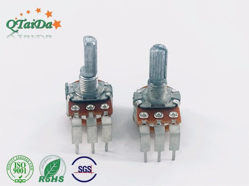 深圳厂家R1610大湾脚开关电位器 调光调速调音响
