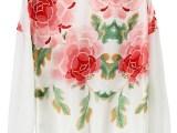 2013新款 印花外套 zaa同款 长袖夹克 女休闲夹克   欧