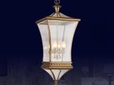 家居灯饰加盟 欧式全铜玻璃吊灯厂家直销