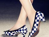 科蓓尔2015欧洲站春季新款单鞋明星同款原版蝴蝶结真皮女鞋