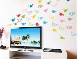 小鱼墙贴 卫生间电视墙浴室防水背景墙纸卧室可爱卡通装饰可移除