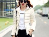 北京批发2015新款女装 女式羽绒棉服 长袖修身保暖欧美休闲外套