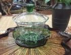 玻璃盖碗耐热高鹏硅吹制盖碗三才杯功夫茶具礼品茶具