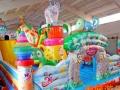 天蕊游乐供应儿童蹦蹦床组合滑梯充气城堡沙滩池水池钓鱼池支架水池