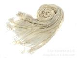 【外贸披肩批发】亚麻单色围巾丝巾压皱春款现货【厂家直销】