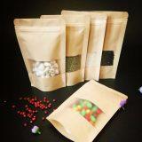 厂家现货食品复合牛皮纸袋 开窗自立自封干果茶叶杂粮袋