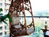 山木广美庭院摇椅吊藤椅单人鸟巢挂椅