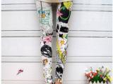 2013春款韩版打底裤 喷漆涂鸦彩色泼墨打底裤 纯棉女式打底裤