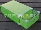 欣悦 金属包边抽屉鞋盒 彩色透明 水晶鞋盒批发 收纳鞋盒  女士