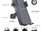 熱銷款 多功能支架 單車摩托車兩種無線充支架 帶騎行燈支架