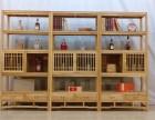 中式实木博古架摆件客厅装饰原木卯榫置物架玄关隔断多宝阁展示柜