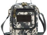 军迷斜挎包战术背包 男女户外单肩包组合拆卸包 迷彩多用竖款男包