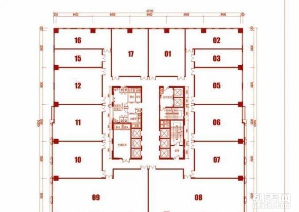 邯郸美的城23号楼平面图130平