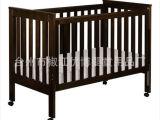 出口澳洲实木婴儿床儿童床-2合1松木多功能-隐藏式护栏滑轨