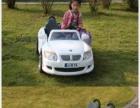 儿童电动遥控车 双轮驱动,两人坐,白色宝马敞篷跑车