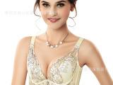 淘宝正品土豪金刺绣女士聚拢内衣文胸套装 品牌上托舒适胸罩批发