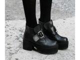 2014正品厚底松糕马丁靴休闲粗跟短靴单鞋高跟鞋 特价批发