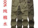 2014新款jeep.mmr男士休闲纯棉水洗宽松多口袋工装裤薄款