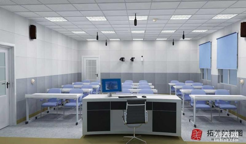 代做济南效果图制作学校幼儿园俯瞰效果图多媒体电教室效果图