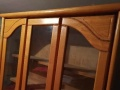 转让自家用8成新3开门实木书柜