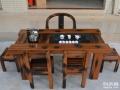 阜阳市老船木茶桌椅子仿古茶台实木沙发茶几餐桌办公桌家具博古架