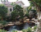 南海区盐步工厂园林绿化养护别墅假山鱼池绿化景观设计