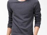 新款男士打底衫长袖批发厂家加绒加厚t恤不倒绒保暖内衣秋冬款