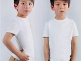 外贸童装批发儿童纯棉短袖T恤纯白色T恤女童男童圆领半袖打底衫