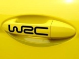WRC 车贴 汽车装饰贴纸 反光拉手贴纸